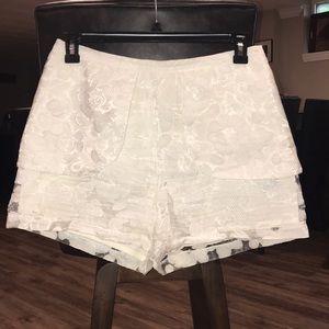 White fashion shorts